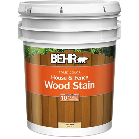 behr 5 gal base solid color house fence wood stain 03005 the home depot