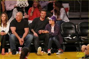 David Beckham: Lakers Game with Brooklyn!: Photo 2655443 ...