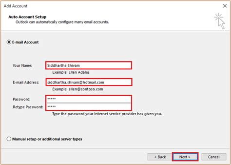 outlook 2016 email how to setup an email account in microsoft outlook 2016