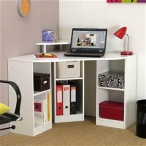 Bureau angle petit espace meuble ordinateur conforama for Chambre ado petit espace