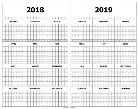 calendar printable year glance