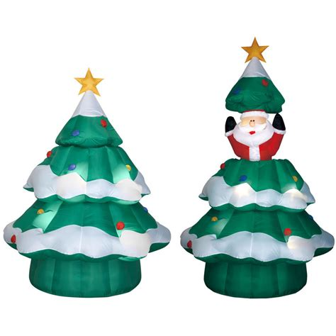 airblown santa in christmas tree