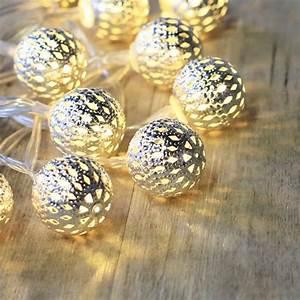 Boule Lumineuse Guirlande : guirlande lumineuse boules m tal argent mariage ~ Teatrodelosmanantiales.com Idées de Décoration
