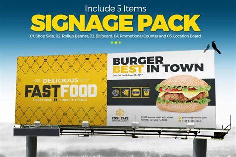 restaurant billboard designs  examples psd ai