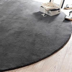 Maison Du Monde Tapis Rond : tapis rond soft anthracite 200 cm diam tre maisons du monde ~ Zukunftsfamilie.com Idées de Décoration