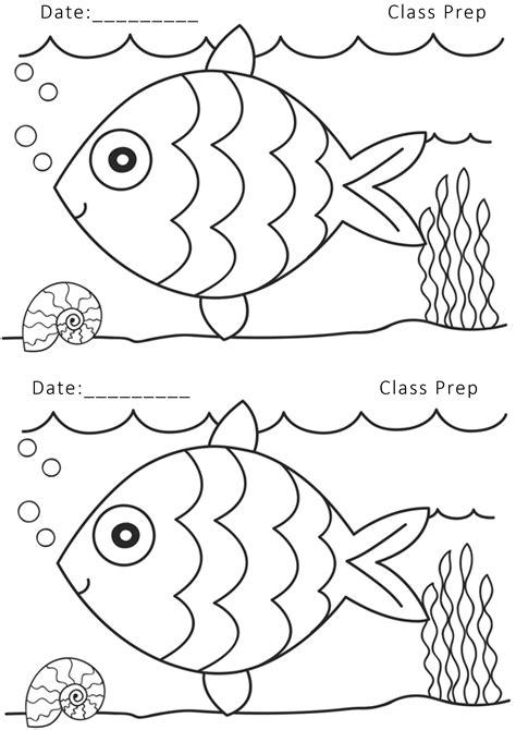 fish coloring worksheets printable worksheets