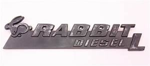 Rabbit Diesel L Hatch Emblem Badge Vw Rabbit Mk1