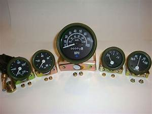 12v Willys Jeep M38 1952 Gauges Kit With Speedometer