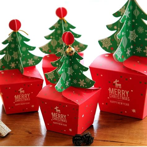 christmas tree design pcs candy paper box gifts