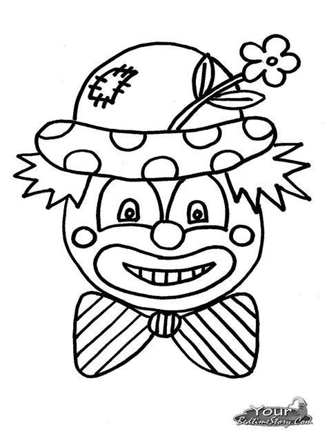 Kleurplaat Clowsgezicht by Clown Coloring Pages Yourbedtimestory Coloring Pages