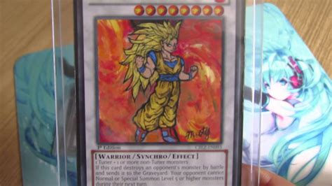 dragon ball  yugioh card altered art youtube