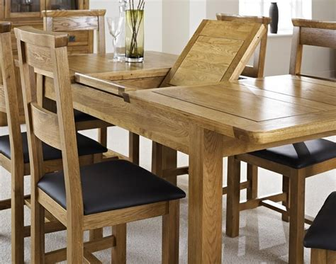 extendable oak dining tables  chairs dining