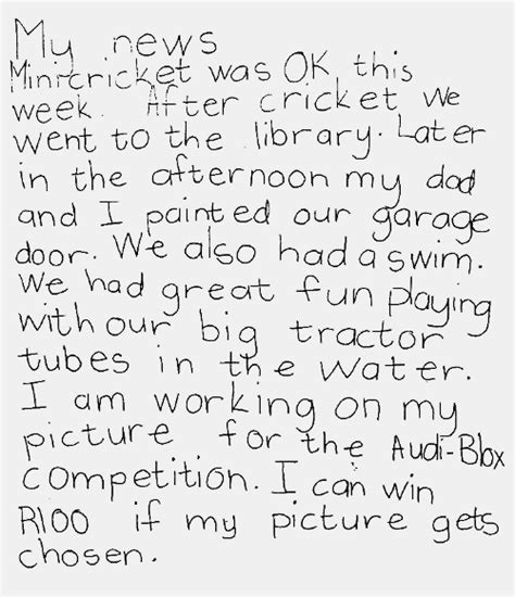 Writing For Second Graders  Second Grade Writing Sample 1 Reading Rockets1000 Images About