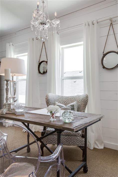 uplifting shabby chic home office designs