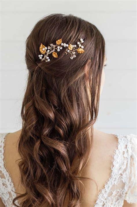 Gold Leaf Wedding Hair Pins Victoria Millesime