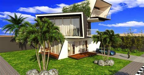 contoh desain eksterior menggunakan sketchup   ray