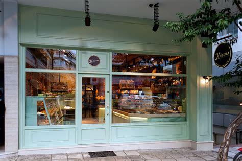 Coffee shop inspo — gathered living. ''Kogias'' bakery. Interior Design: CONSTANTINOS BIKAS   Bakery design interior, Coffee shop ...