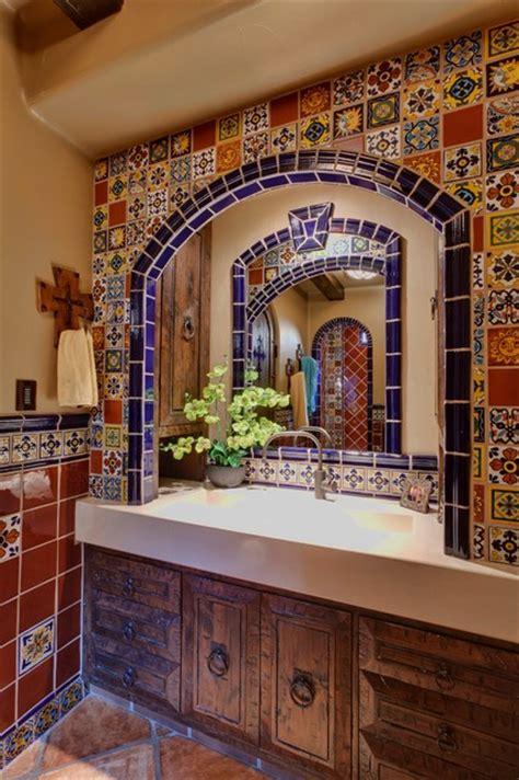 spanish delight mediterranean bathroom  metro