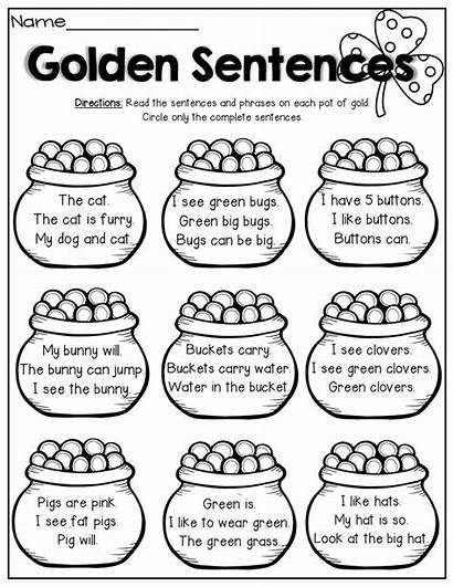 Sentences Incomplete Simple Writing Grade Complete Phrases