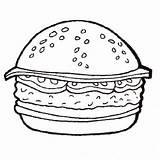 Burger Coloring Hamburger Printable Getcolorings Getdrawings sketch template