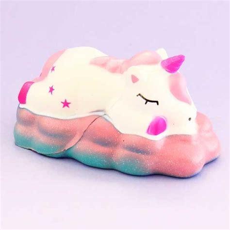 sleeping unicorn cloud squishy blippo kawaii shop