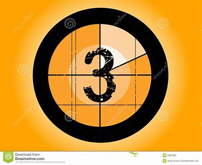 Countdown Number Film Orange Fashioned Pi Down