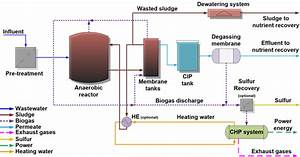 Process Flow Diagram For The Proposed Anmbr Wwtp  Cip