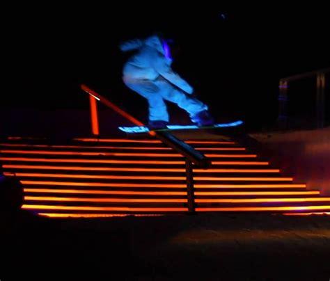 snowboard led lights black snow snowboarding light show senses lost