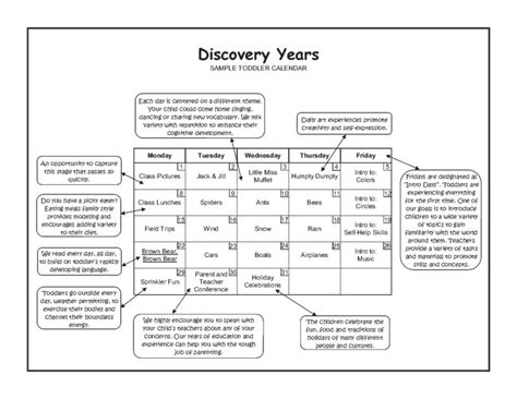 programs curriculums discovery years centers day