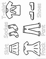 Clothes sketch template