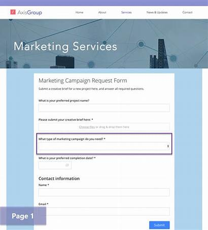Request Forms Marketing Dynamic Form Sample Customer