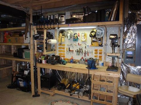 Well Organized Garage Workshop  Workshop Pinterest