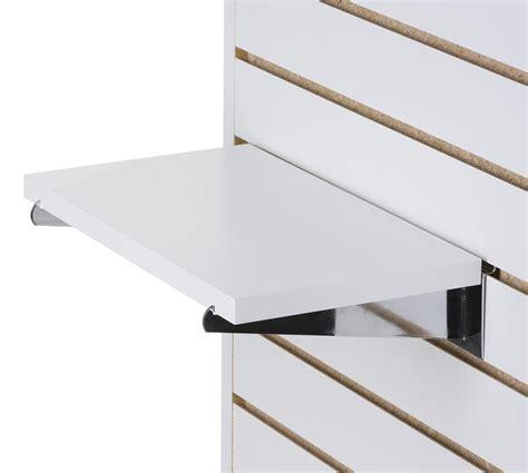 14 Slatwall Shelf White Melamine Finish