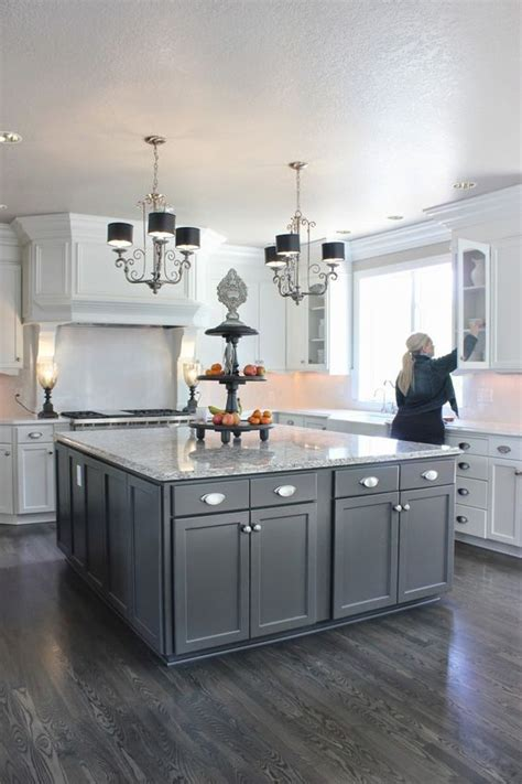 white kitchen gray floor grey wood laminate home ideas and what not pinte 1379