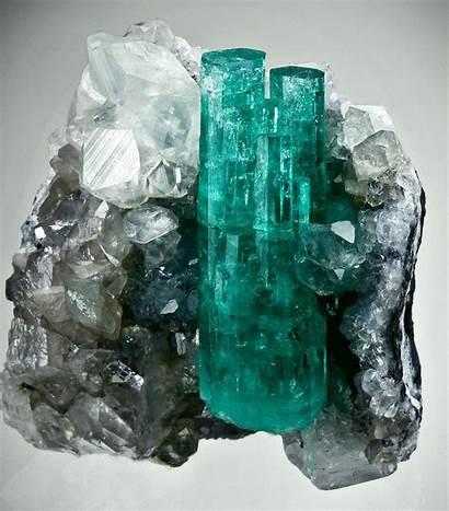 Mineral Emerald Beryl Calcite Minerals Specimen Colombia