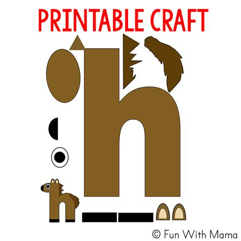 letter h worksheets activities with 660 | letter h is for horse craft