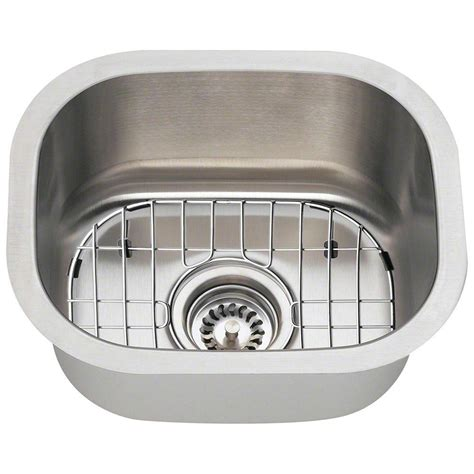 Home Bar Sinks by Polaris Sinks All In One Undermount Stainless Steel 15 In