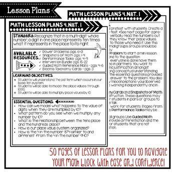 grade math bundle lesson plans printables guided