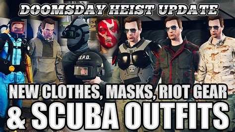 New Clothes Scuba Gear Riot Helmets Masks and Tattoos (GTA Online Doomsday Heist Update ...