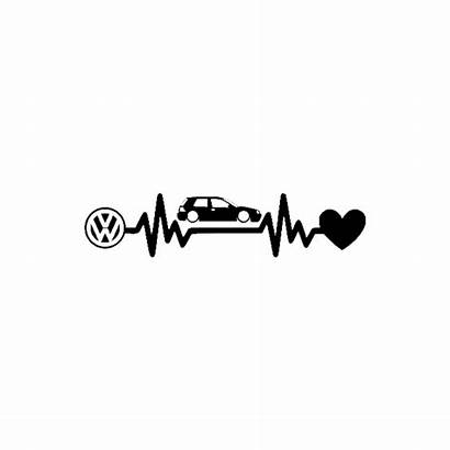Stickers Golf Vw Volkswagen Stickcompteur