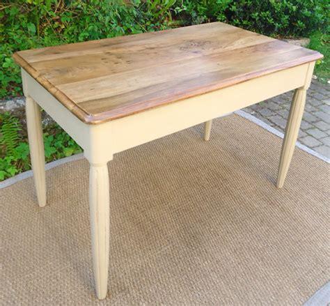 table bureau ancien table bureau ancien en bois peint et plateau en bois naturel