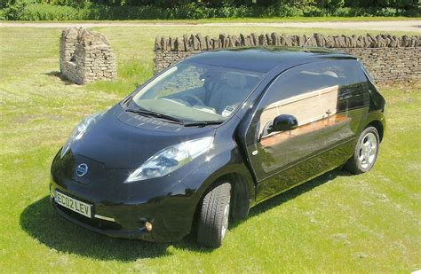 Nissan Conversion by Electric Nissan Leaf Hearse Greenest Way To Travel The