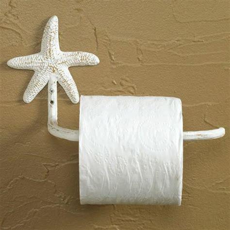 whitewashed starfish toilet roll holder olde glory