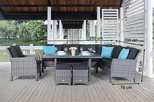 Rattanmöbel Garten Lounge : gartenm bel lounge dining rattanm bel gartentisch set mix grau ~ Markanthonyermac.com Haus und Dekorationen