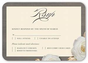 flowering fondness rsvp cards wedding invitations With shutterfly wedding invitations with rsvp