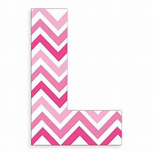 Stupell Industries Tri-Pink Chevron 18-Inch Hanging Letter ...