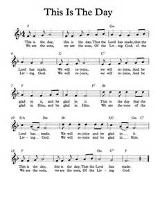 This Is the Day Piano Sheet Music Free