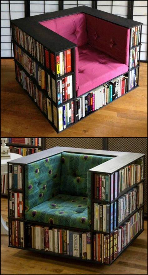 enjoy  good read  sitting   diy bookcase chair