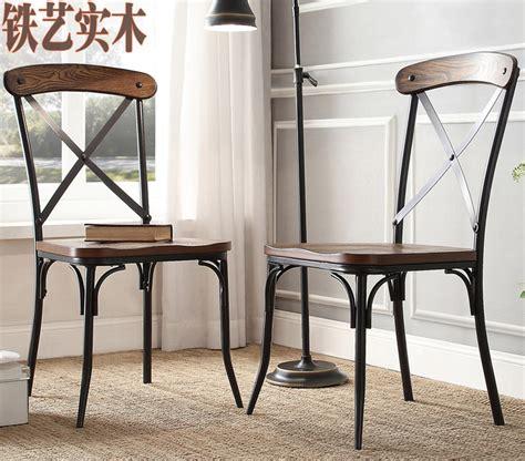 chaise bois et fer loft industriel style vintage bois tables en fer