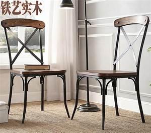 Table Bois Et Fer : loft industriel style american vintage bois tables en fer forg c3 a9 tables et chaises ~ Teatrodelosmanantiales.com Idées de Décoration